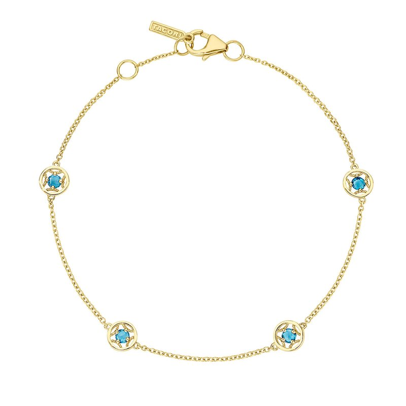 Tacori Fashion 4-Station Petite Gemstone Bracelet with London Blue Topaz