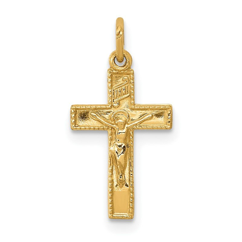 Quality Gold 14k INRI Crucifix Charm