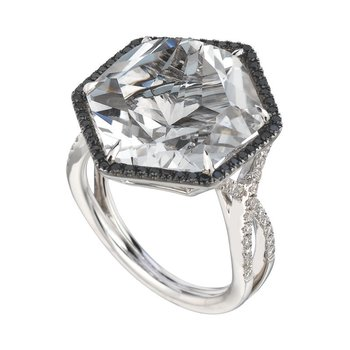 Midnight Rocks Topaz Ring
