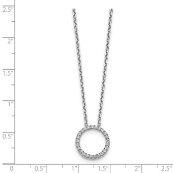 14kw True Origin Lab Grown Diamond VS/SI, D E F, Circle Pendant with Chain