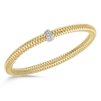 Roberto Coin  #25940 Of Flexible Bangle With Diamonds
