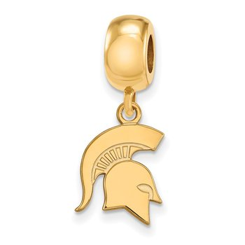 Gold-Plated Sterling Silver Michigan State University NCAA Bead