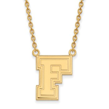 Gold-Plated Sterling Silver Fordham University NCAA Necklace