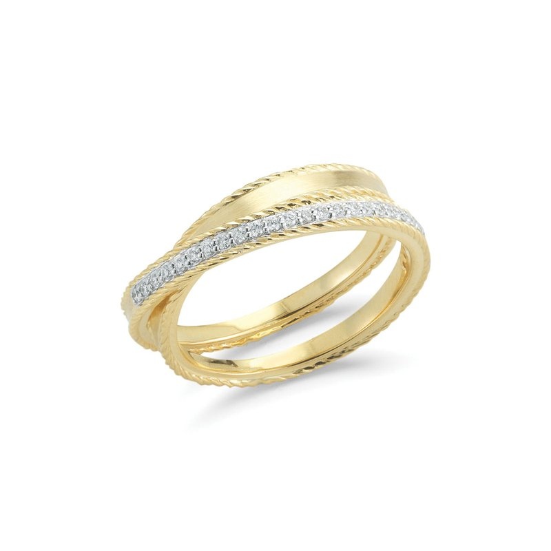 ALOR Yellow Gold & Diamond Overpass Ring