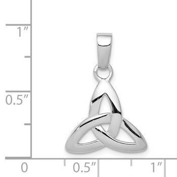 Sterling Silver Rhodium Plated Trinity Pendant