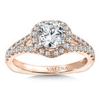 Valina Diamond Engagement Ring Mounting in 14K Rose Gold (.565 ct. tw.)