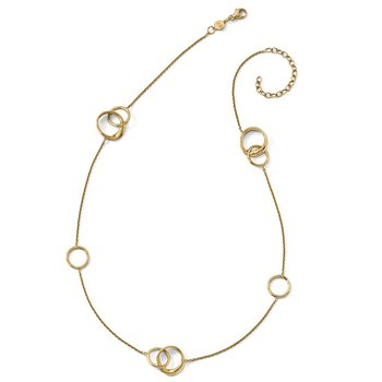 Leslie's 14K Polished 2in ext. Necklace