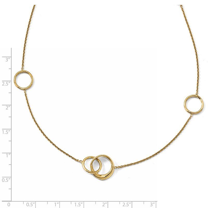 Leslie's Leslie's 14K Polished 2in ext. Necklace