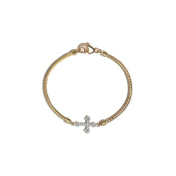 Classic Chain Cross Station Mini Chain Bracelet