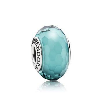 Fascinating Teal Charm, Murano Glass