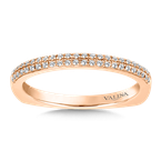 Valina Stackable Wedding Band in 14K Rose Gold (.12 ct. tw.)