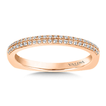Stackable Wedding Band in 14K Rose Gold (.12 ct. tw.)