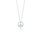 Roberto Coin 18Kt Gold Peace Sign Pendant With Diamonds