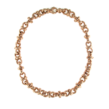 18KT ROSE GOLD LINK NECKLACE