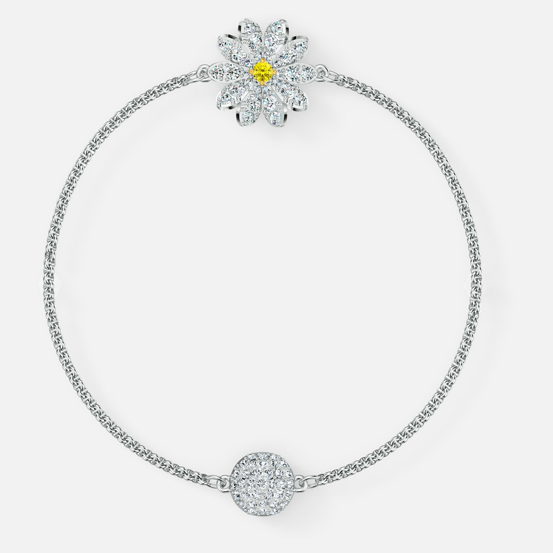 Swarovski Swarovski Remix Collection Flower Strand, White, Rhodium plated