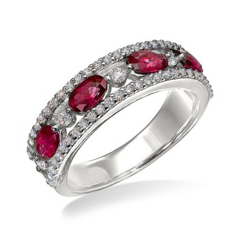 White gold, ruby & diamond