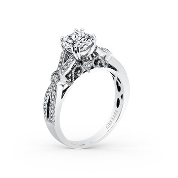 Filigree Milgrain Diamond Engagement Ring