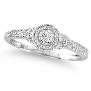 10K  0.04Ct  Diamond  Ring.