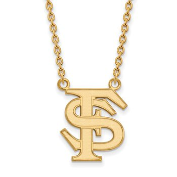 Gold-Plated Sterling Silver Florida State University NCAA Necklace
