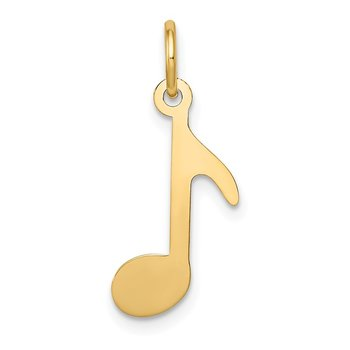 14k Polished Musical Note Charm