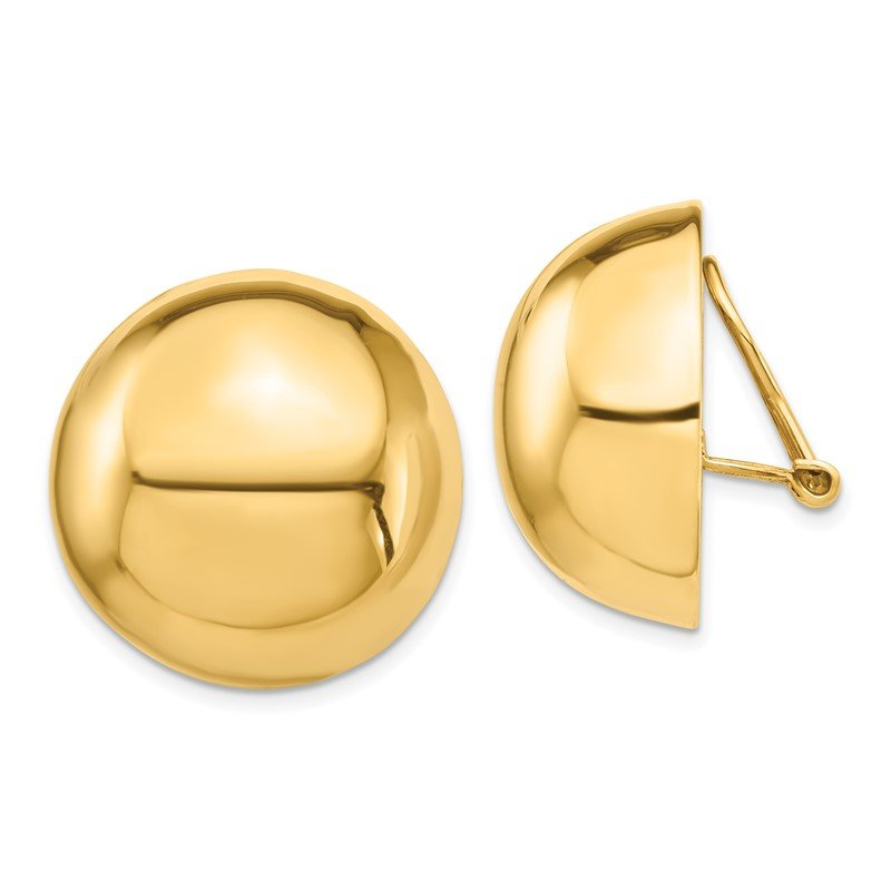 Lester Martin Online Collection 14k Omega Clip 24mm Half Ball Non-pierced Earrings