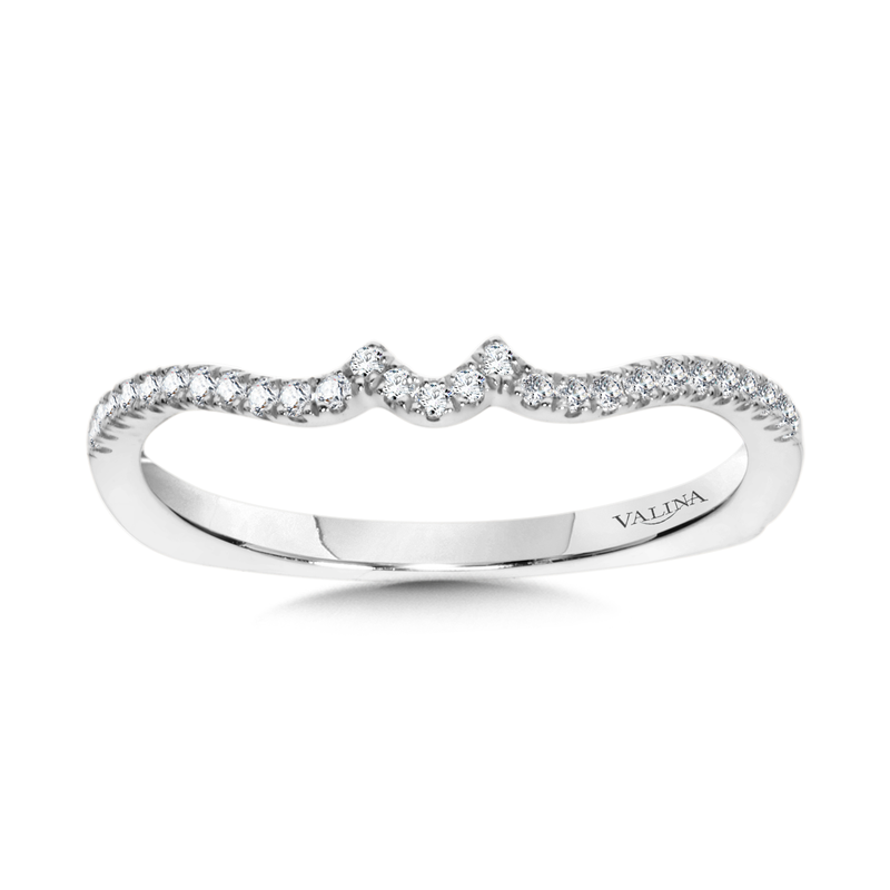 Valina Diamond and 14K White Gold Wedding Ring (0.14 ct. tw.)
