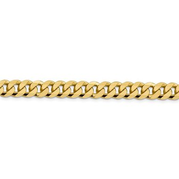 Leslie's 14K 8.75mm Flat Beveled Curb Chain