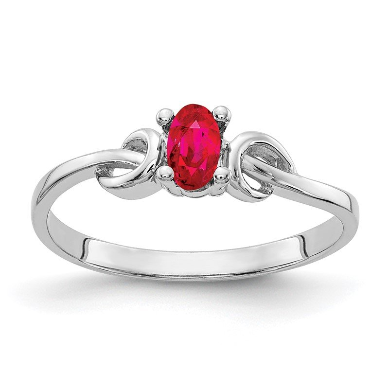 Quality Gold 14k White Gold 5x3mm Oval Ruby ring