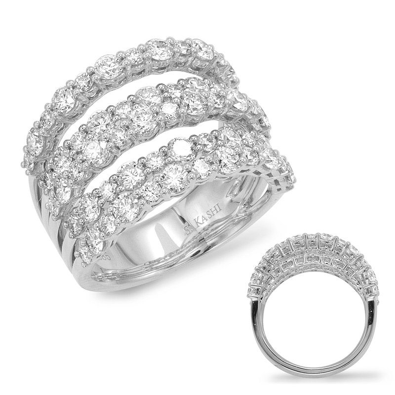 Briana White Gold Pave Ring