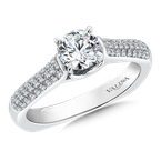 Valina Bridals Mounting with side stones .27 ct. tw., 5/8 ct. round center.
