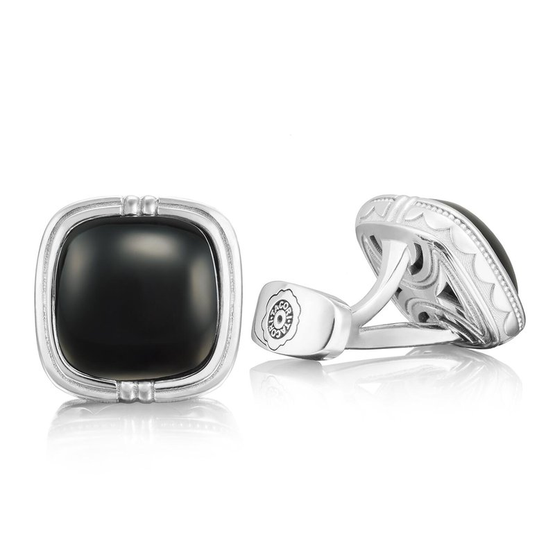 Tacori Fashion Cushion Cabochon Cuff Links featuring Black Onyx