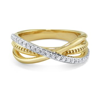 14K Diamond Multi Band Ring