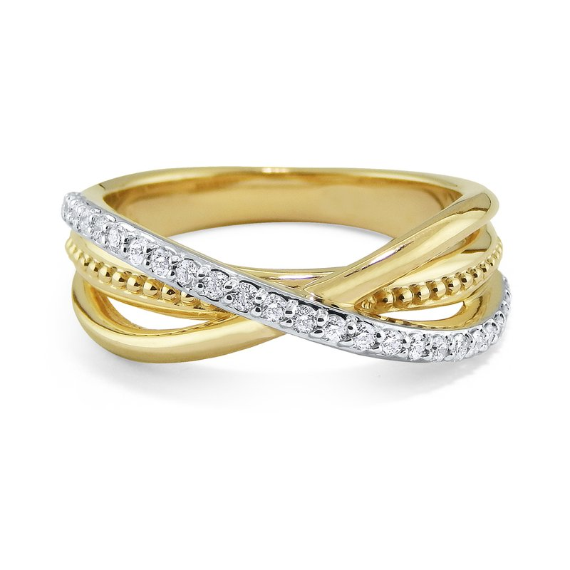 MAZZARESE Fashion 14K Diamond Multi Band Ring