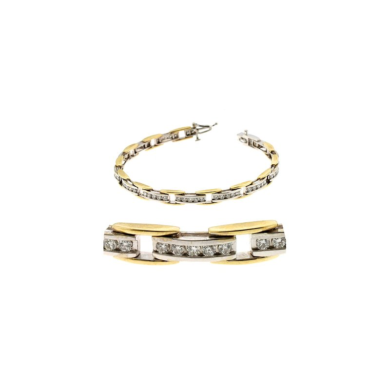 S. Kashi  & Sons Two Tone Diamond Bracelet