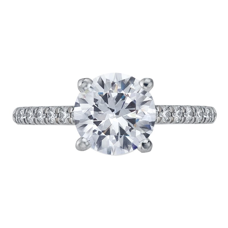 Mark Patterson Pave Diamond Engagement Ring