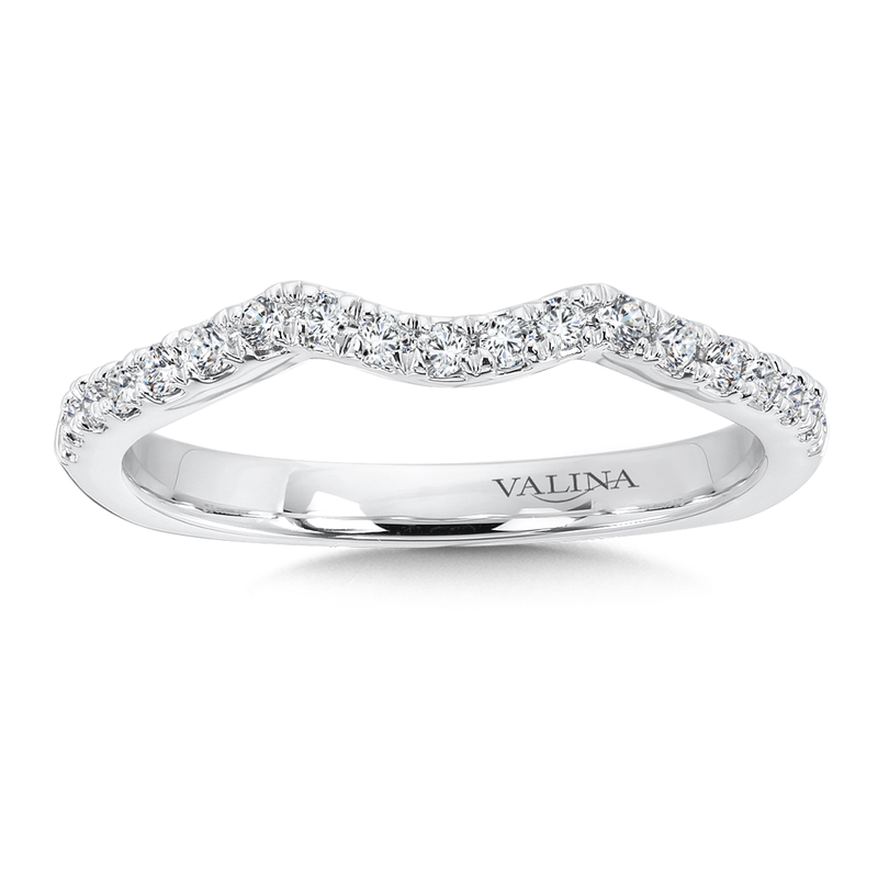 Valina Bridals Diamond and 14K White Gold Wedding Ring (0.21 ct. tw.)