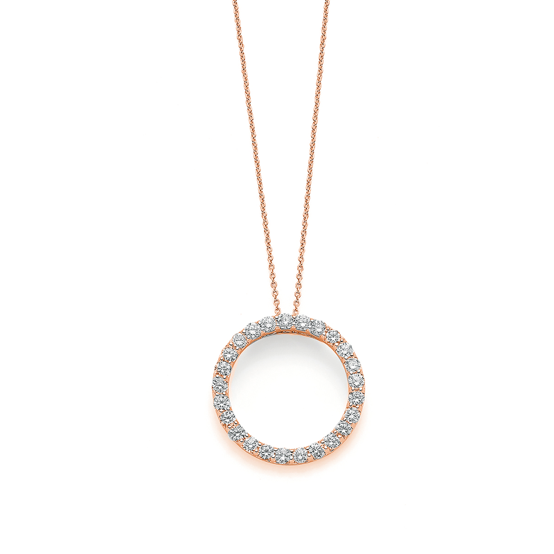 Roberto Coin 18Kt Gold Small Circle Diamond Pendant