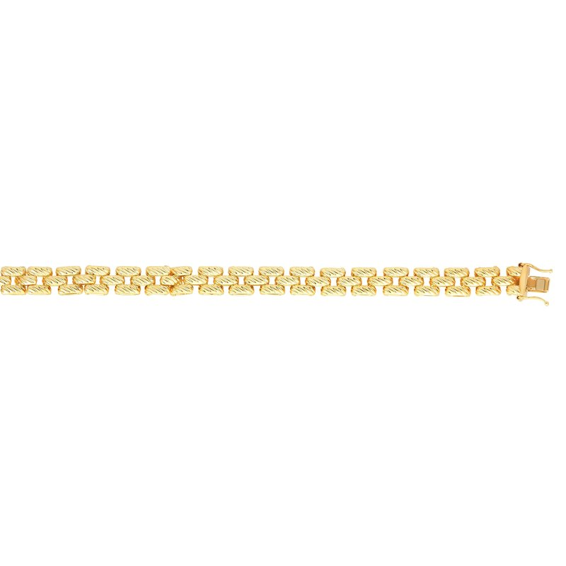 Royal Chain 14K Gold Twisted Panther Link Bracelet