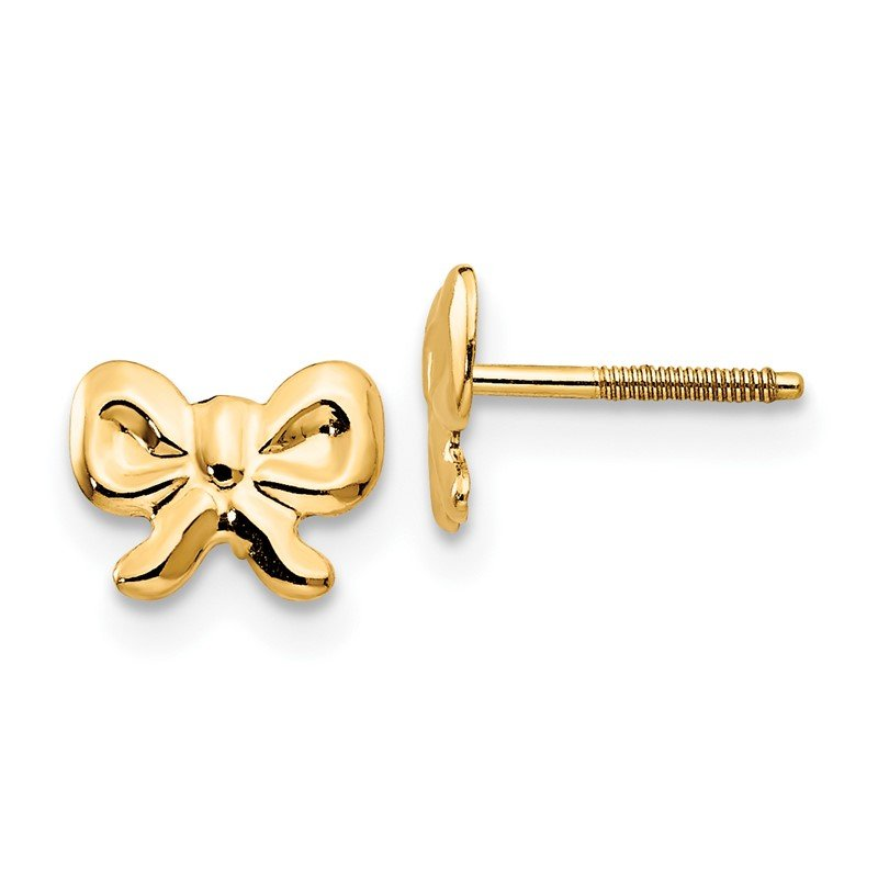 Quality Gold 14k Madi K Bows Screwback Earrings