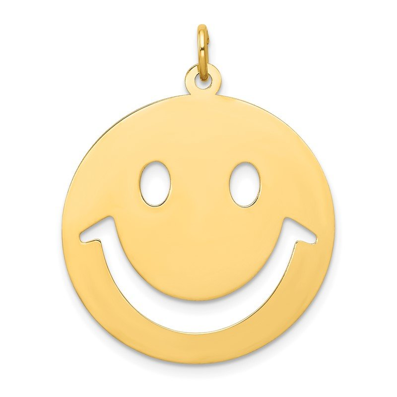 Quality Gold 14k Smiley Face Charm