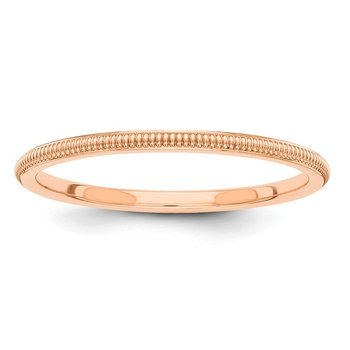 14k Rose-Gold 1.5mm Milgrain Band