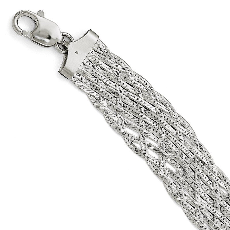 Leslie's Leslie's Sterling Silver Polished Braided Bracelet