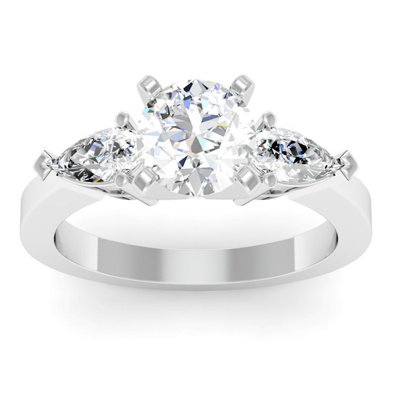 FM Lazer Diamonds Classic Pear Shaped Diamond Engagement Ring