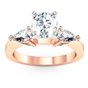 Classic Pear Shaped Diamond Engagement Ring