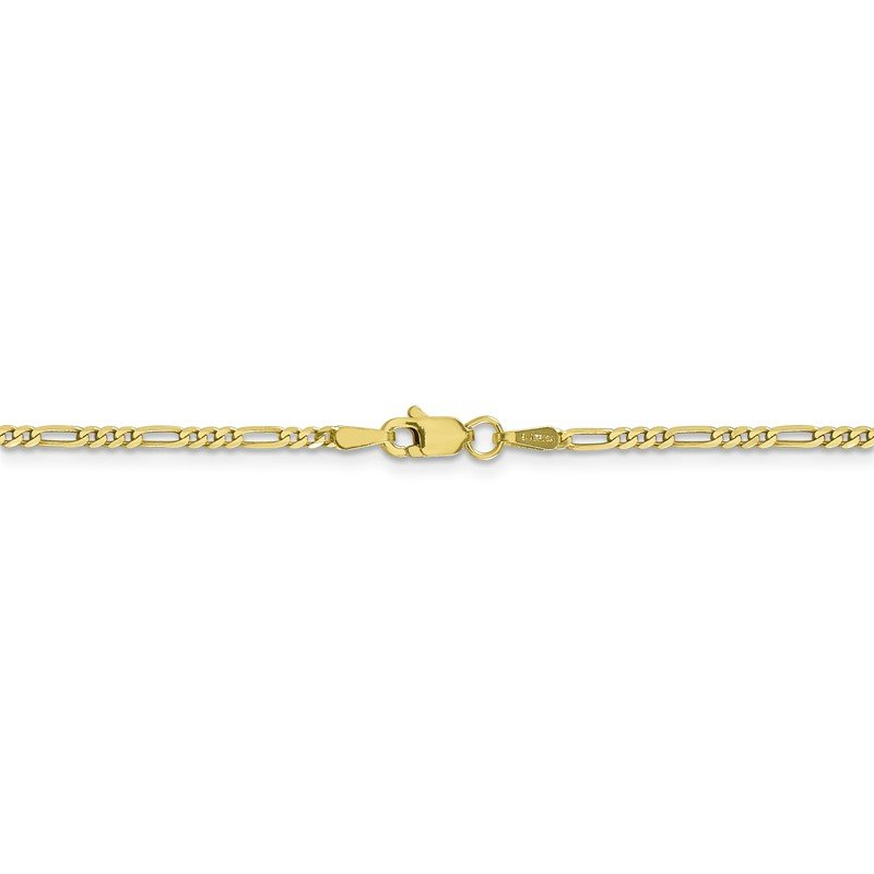 Quality Gold 10k 1.75mm Flat Figaro Chain
