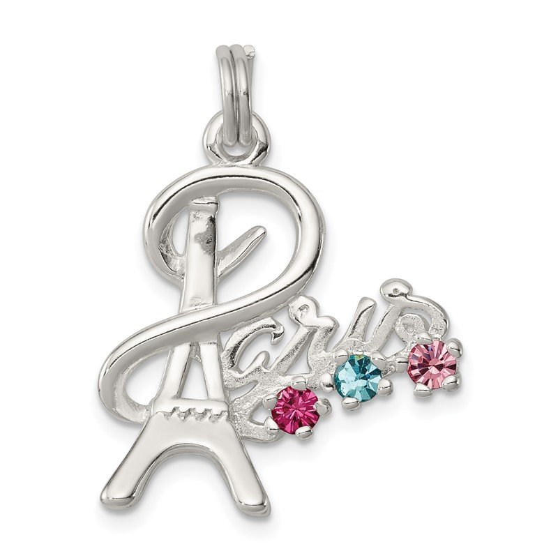 Quality Gold Sterling Silver Multi-color Preciosa Crystal Paris Charm