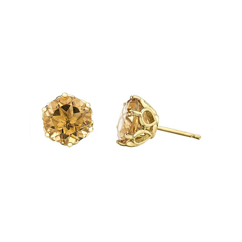 Timeless Beauty Citrine Earrings