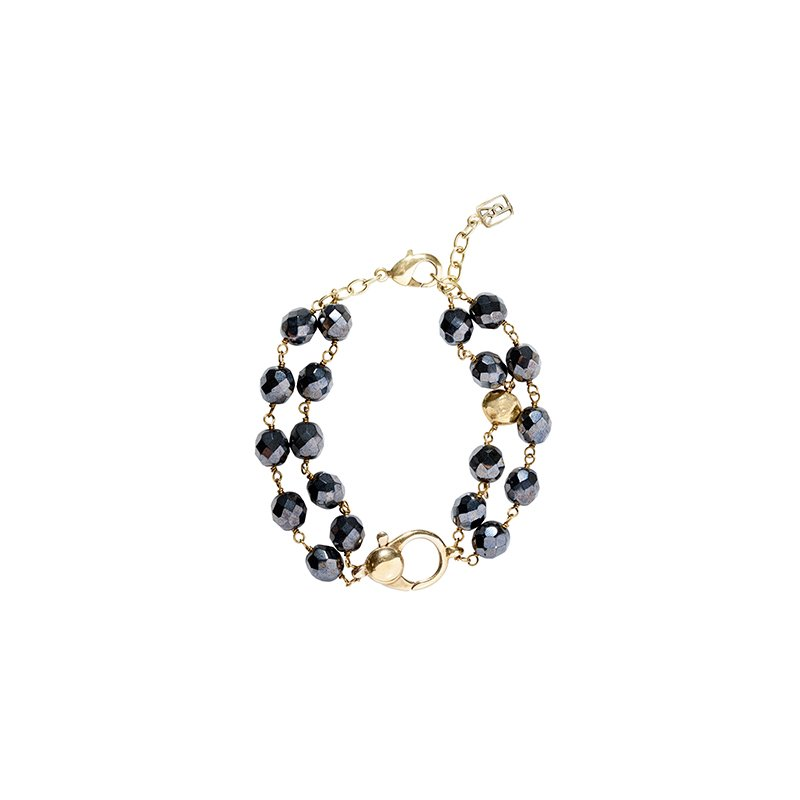 Waxing Poetic Ensemble Bracelet - Hematite
