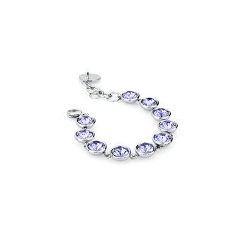 316L stainless steel and tanzanite Swarovski® Elements