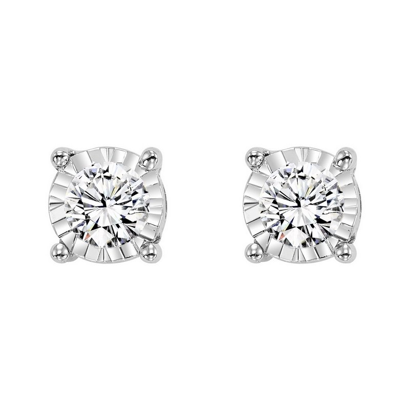 Gems One Four Prong Diamond Stud Earrings in 14K White Gold (1/3 ct. tw.) SI3 - G/H